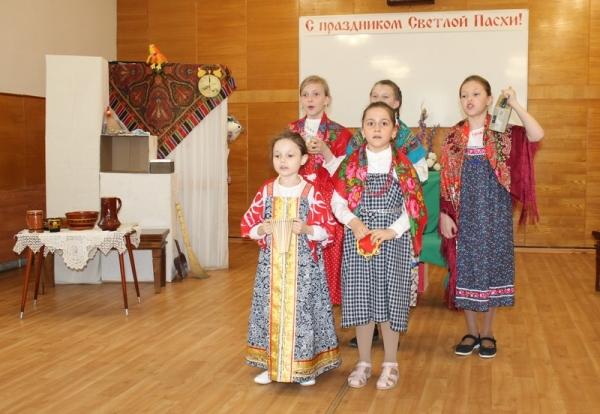 В воскресной школе собора Рождества Пресвятой Богородицы состоялся пасхальный концерт