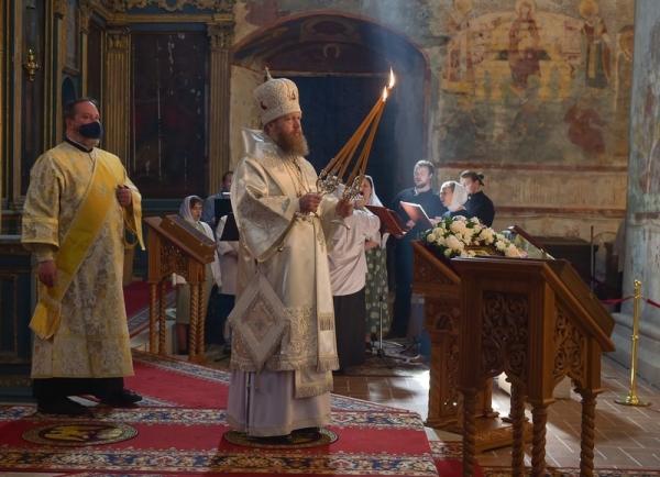В праздник Вознесения Господня митрополит Савва совершил Литургию в Софийском соборе Вологды